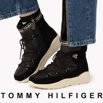 Tommy Hilfiger Mountain Boots Round Toe Casual Style Unisex Street Style