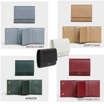 CELINE Flap Calfskin Folding Wallets