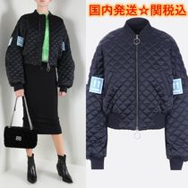 Off-White Street Style Plain Medium MA-1 Oversized Bomber Jackets