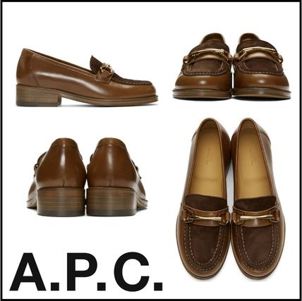 Casual Style Street Style Plain Leather Loafer Pumps & Mules