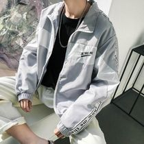 Short Unisex Street Style Plain Coach Jackets Oversized
