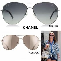 CHANEL Unisex Round Sunglasses