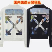 Off-White Crew Neck Pullovers Sweat Street Style Long Sleeves