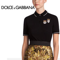Dolce & Gabbana Casual Style Street Style Plain Cotton Short Sleeves