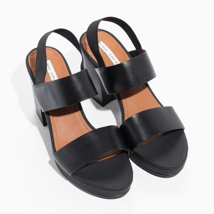 94592adb8b2d ... Other Stories Heeled Casual Style Plain Leather Block Heels Heeled  Sandals ...