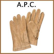 A.P.C. Suede Plain Gloves Gloves