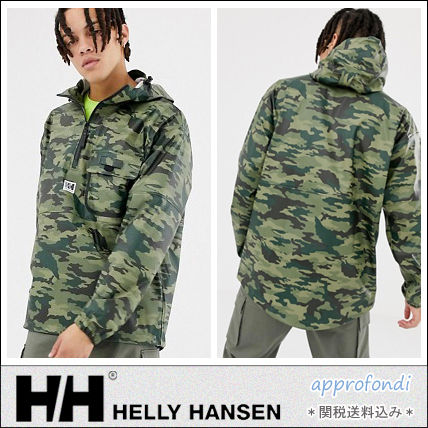 6884462ba189d HELLY HANSEN 2018-19AW Camouflage Street Style Khaki Jackets by ...