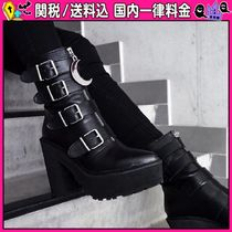DOLLS KILL Platform Casual Style Faux Fur Plain Ankle & Booties Boots
