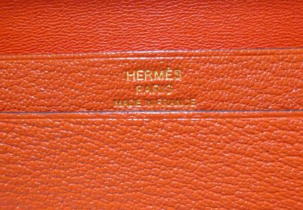 HERMES Card Holders Plain Leather Card Holders 4