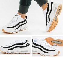 Nike AIR MAX Unisex Street Style Plain Leather Sneakers