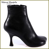 Maison Martin Margiela Casual Style Plain Leather Pin Heels Ankle & Booties Boots