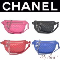 CHANEL MATELASSE Casual Style Calfskin Street Style 2WAY Plain Shoulder Bags