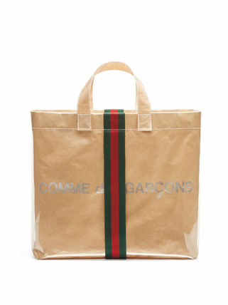 Unisex Street Style Collaboration Plain Totes