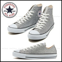 CONVERSE ALL STAR Plain Toe Unisex Street Style Low-Top Sneakers