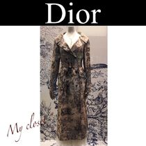 Christian Dior Street Style Other Animal Patterns Long Elegant Style Coats