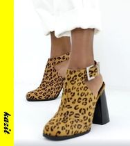 ASOS Leopard Patterns Casual Style Suede Ankle & Booties Boots