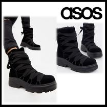 ASOS Plain Toe Casual Style Suede Blended Fabrics Street Style