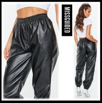 Missguided Casual Style Faux Fur Blended Fabrics Street Style Plain