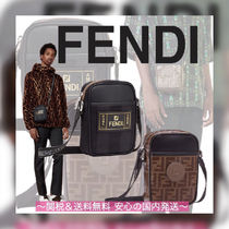 FENDI Unisex Leather Messenger & Shoulder Bags