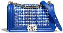 CHANEL BOY CHANEL Other Check Patterns Blended Fabrics Chain Plain