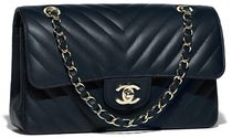 CHANEL Lambskin Blended Fabrics Chain Plain Elegant Style Handbags