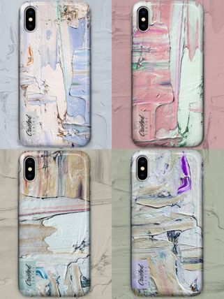 Unisex Street Style Tie-dye Smart Phone Cases