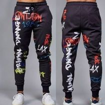 CRIMINAL DAMAGE Unisex Street Style Bi-color Oversized Joggers & Sweatpants
