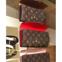 Louis Vuitton PORTEFEUILLE SARAH Monogram Canvas Blended Fabrics Bi-color Long Wallets