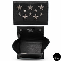 Jimmy Choo Star Unisex Studded Street Style Leather Coin Cases