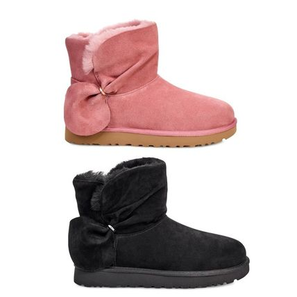 UGG Australia Ankle & Booties Round Toe Sheepskin Plain Ankle & Booties Boots 5