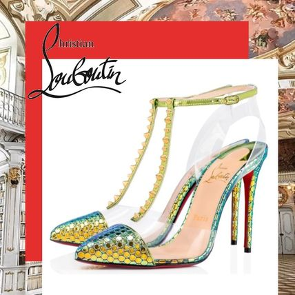 c20afe284ee ... Christian Louboutin More Shoes Studded Pin Heels Elegant Style Shoes ...