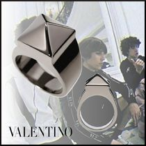 VALENTINO Studded Metal Rings