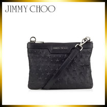 Jimmy Choo Star 2WAY Leather Clutches