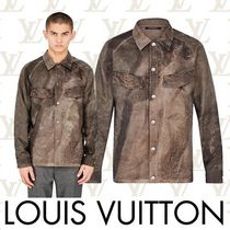 Louis Vuitton Camouflage Long Sleeves Shirts