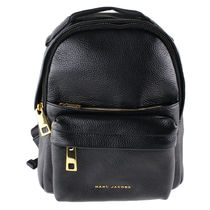 Marc by Marc Jacobs Plain Leather Logo Backpacks