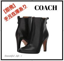 Coach Leather Pin Heels Ankle & Booties Boots