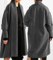 Wool Plain Long Office Style Oversized Bold Chester Coats