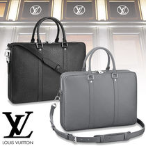Louis Vuitton TAIGA 3WAY Plain Leather Business & Briefcases