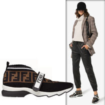 FENDI Leather Low-Top Sneakers