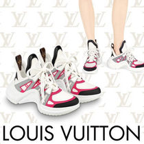Louis Vuitton Round Toe Rubber Sole Casual Style Street Style Plain