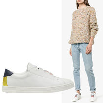 FENDI Plain Leather Low-Top Sneakers