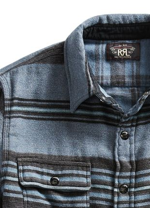 RRL Shirts Stripes Street Style Long Sleeves Cotton Surf Style Shirts 3