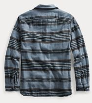 RRL Shirts Stripes Street Style Long Sleeves Cotton Surf Style Shirts 4