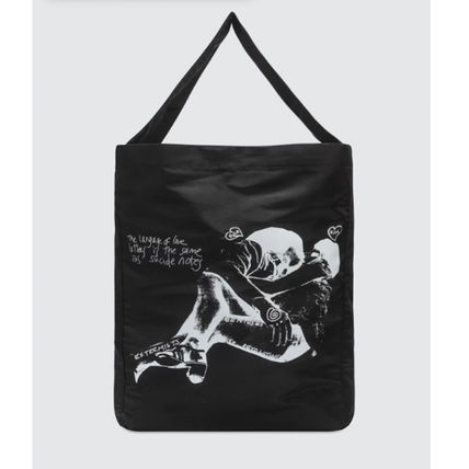 Unisex Street Style A4 Logo Totes