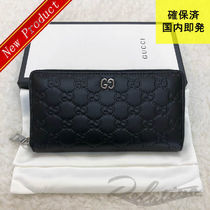 GUCCI Monogram Unisex Street Style Leather Long Wallets