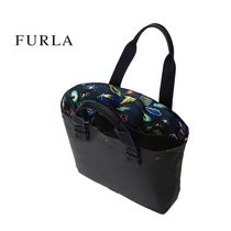 FURLA A4 2WAY Plain Leather Totes