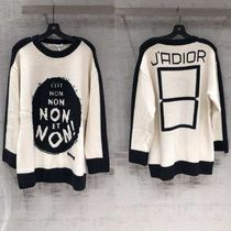 Christian Dior JADIOR Casual Style Unisex Street Style U-Neck Long Sleeves Medium