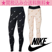 Nike Monogram Casual Style Cotton Long Skinny Pants