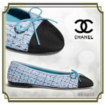 CHANEL Other Check Patterns Ballet Shoes