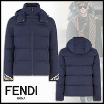 FENDI BAG BUGS Short Plain Down Jackets